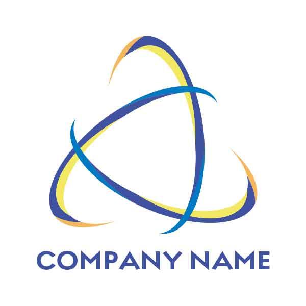 交流を連想させるロゴ