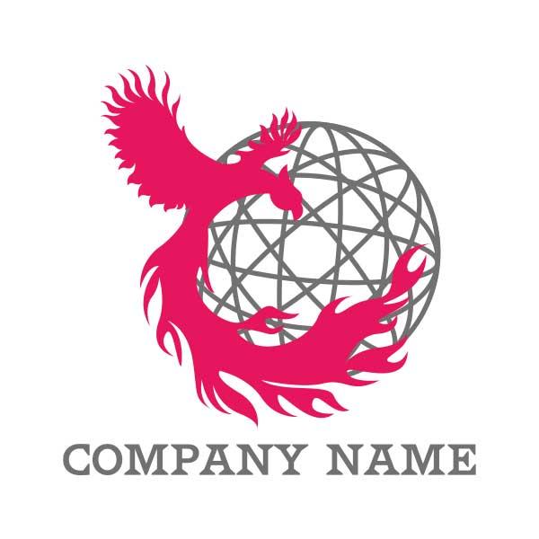 フェニックス(火の鳥)がモチーフのロゴ