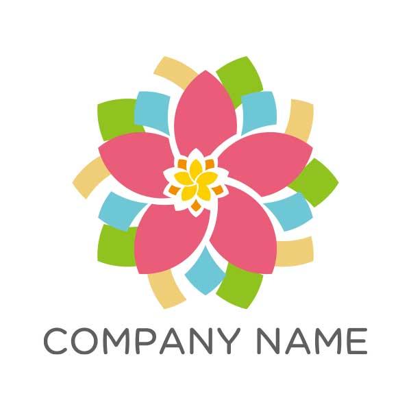 カラフルな花がモチーフのロゴ