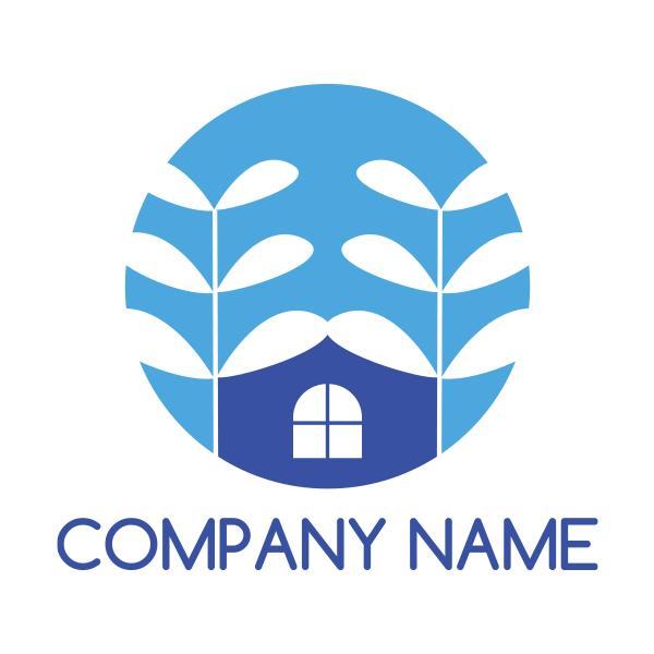 自然と家がモチーフのロゴ