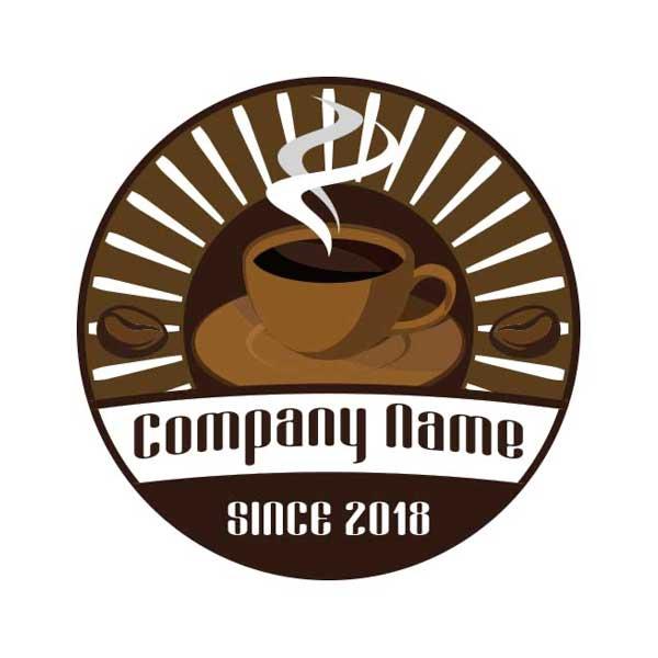 コーヒーがモチーフのロゴ