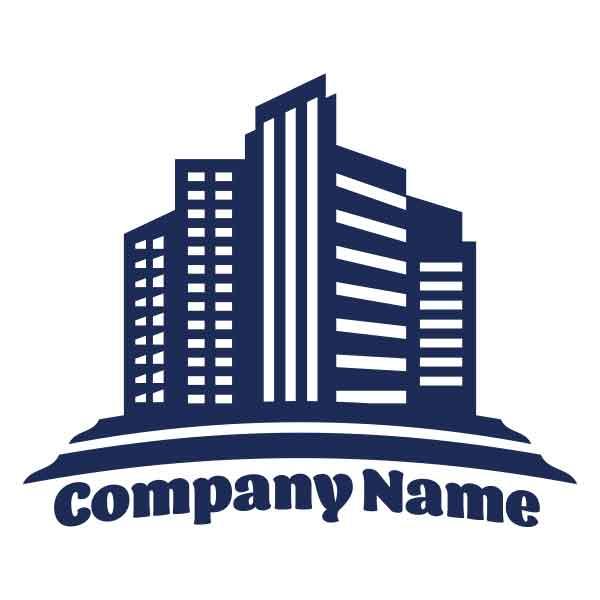 ロゴ作成NO.22/ビルがモチーフの不動産、建築系ロゴ