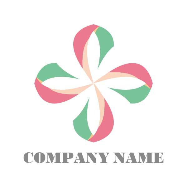ロゴ作成NO.28/カラフルな装飾系ロゴ