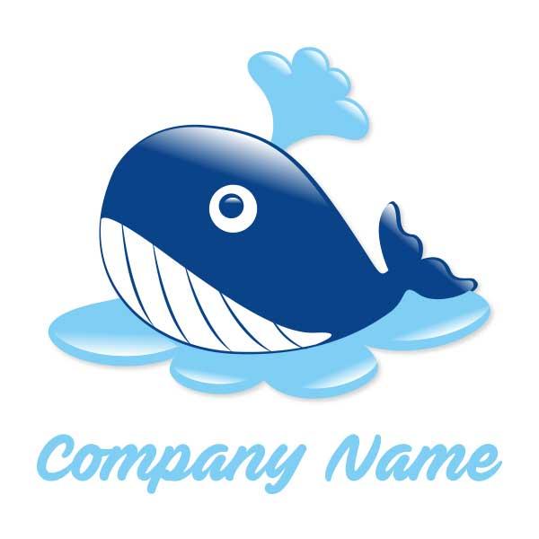 ロゴ作成NO.31/クジラがモチーフのイラスト