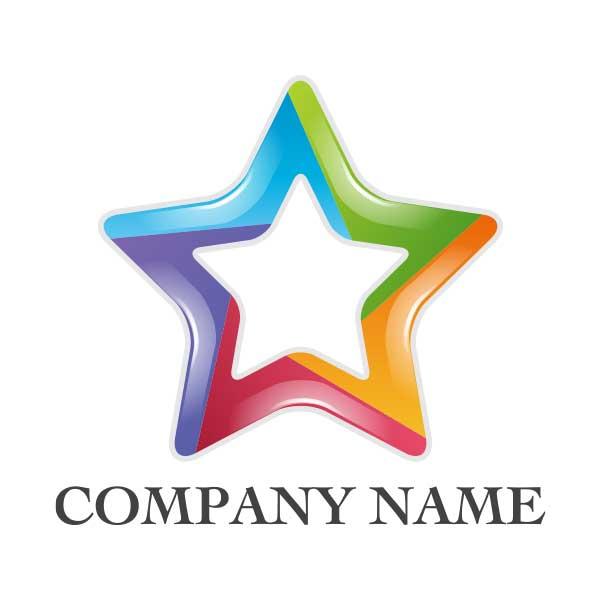 カラフルな星のロゴ