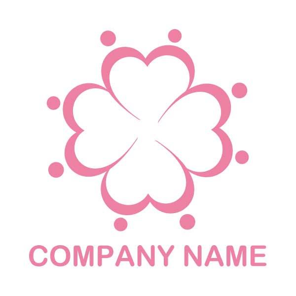 ロゴ作成NO.48/ハートと人の繋がりロゴ