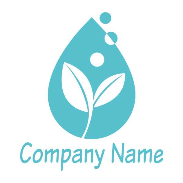 新芽と水を表現したのロゴ