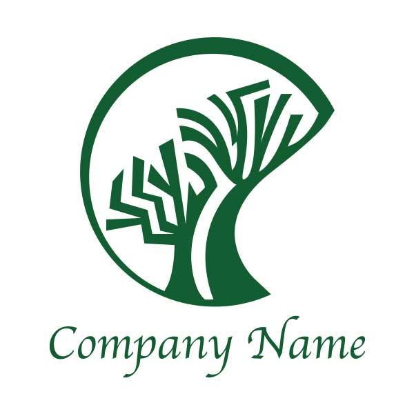 ロゴ作成NO.57/トライバル系の木のロゴ