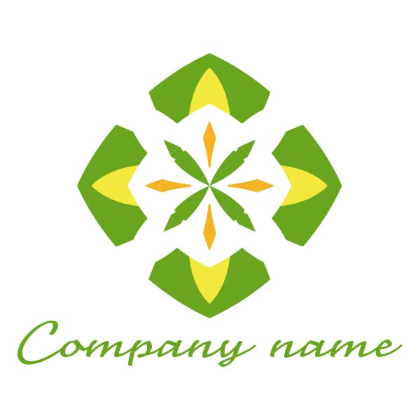 ロゴ作成NO.63/星と植物のロゴ