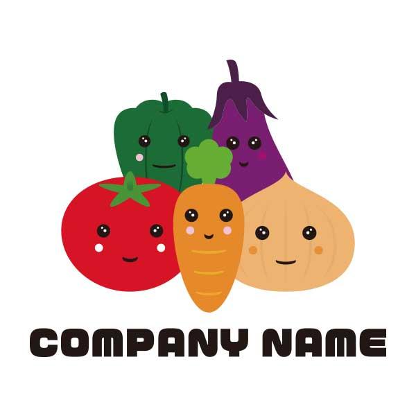 ロゴ作成NO.69/野菜がモチーフのイラスト