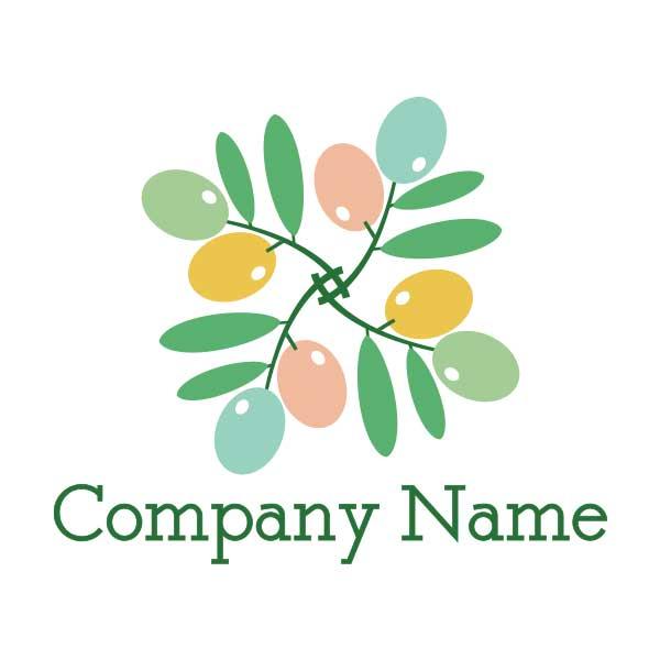 オリーブがモチーフのロゴ