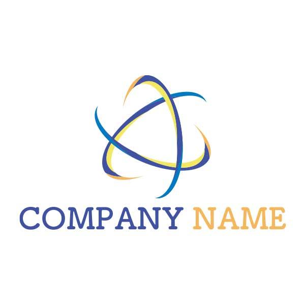 鋭利で先進的なマークロゴ